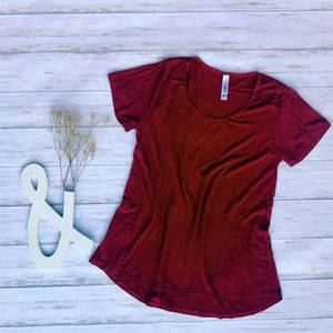 LuLaRoe Red Pinstriped Classic T